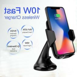 For Samsung Galaxy Note 10 Plus Qi Wireless Car Charger Fast