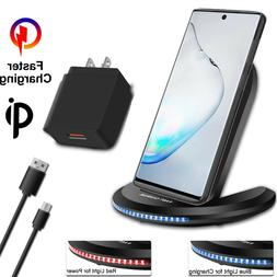 For iPhone 11 Samsung Galaxy Note 10 5G Qi Wireless Fast Cha