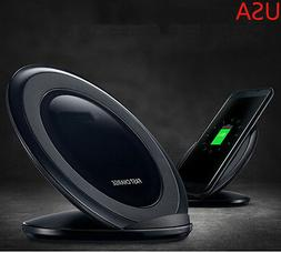 For Samsung Galaxy S8 S7 Note 5 Fast Qi Wireless Charger Cha