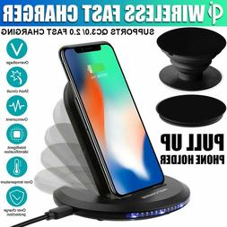 For Samsung Galaxy S8/ S9/ S10+ Plus Wireless Qi Fast Charge