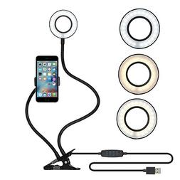 Selfie Ring Light with Cell Phone Holder for Live Stream and