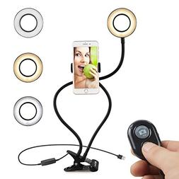 KEKH Selfie Ring Light with Stand and Phone Holder for Live