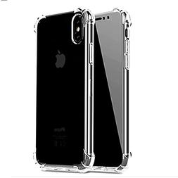 iBarbe Slim Fit iPhone X Case,iPhone 10 Case Crystal Transpa