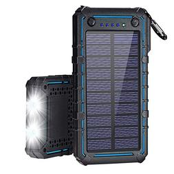 Solar Charger, Solar Power Bank, 13500mAh Portable Solar Pho