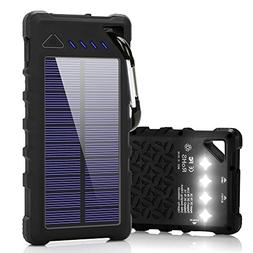 solar charger 16000mah ipx7 waterproof portable solar