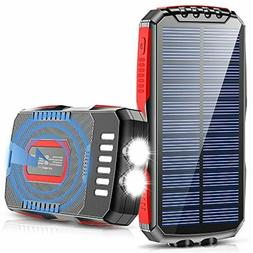 Solar Charger, 25000mAh Wireless Charger Portable Solar Powe
