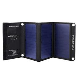 PowerGreen Solar Charger with Dual USB 21W Foldable SunPower