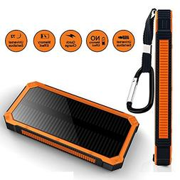 Aonivov Solar Charger 15000mAh Portable Power Bank with Dual