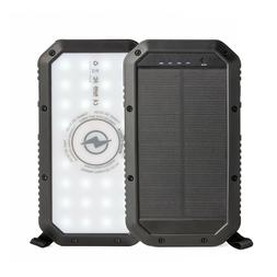 Solar power bank, Portable Solar Charger, 20,000mAH, Qi wire