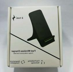 Two Coils Fast Wireless Charger Stand Smartphone-compatible