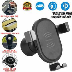 Universal Car Mount Qi Wireless Charger Quick Fast Charge Pa