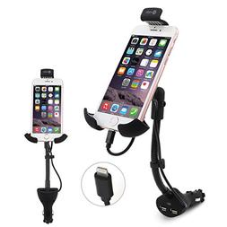 Te-Rich Upgraded 2-in-1 Cigarette Lighter Phone Holder Car M