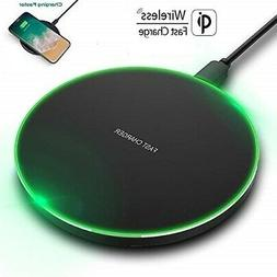 US FDGAO 15W Qi Wireless Charger FAST Charging Pad Mat For i