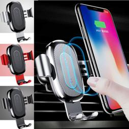 US Baseus Qi Wireless Automatic Clamping Fast Car Charger Mo