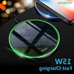 US Fast 15W Qi Wireless Charger Charging Pad Mat For iPhone