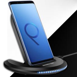 US Qi Wireless Charger 10W Fast Charging Dock Stand Pad Mat