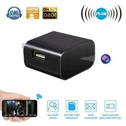 USA HD 4K 1080P Wall Charger Hidden Camera WiFi USB Power Ad