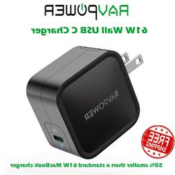 USB C Wall Charger, RAVPower 61W PD 3.0  Type C Fast Chargin