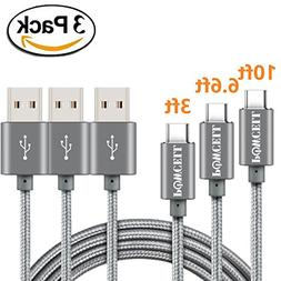 VALUE PACK OF 3 POWCELL 3/6/10 FEET FULL SPEED CHARGER CORD