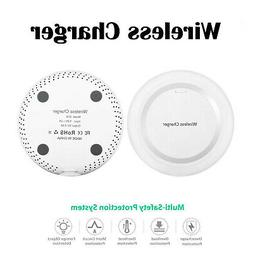 White Qi Wireless Battery Charger Power Charging Pad for App