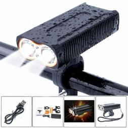 2000 Lumens USB Rechargeable Front Bike Light Bicycle Cyclin