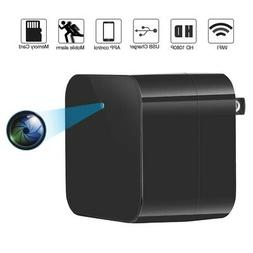 WIFI HD 1080P Hidden Spy Camera USB Wall Charger Security Na