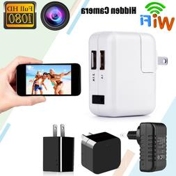 HD 1080P WiFi Hidden Camera Wall Charger Wireless Secret Cam