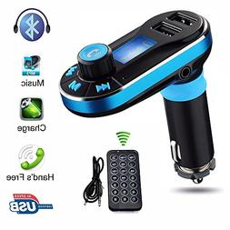 Lonchan Wireless Bluetooth FM Transmitter in-Car Mp3 Music P
