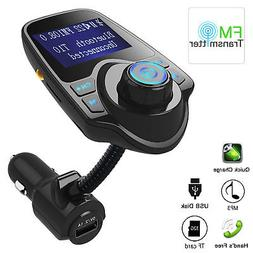 Wireless Bluetooth FM Transmitter Radio Adapter Hands-free M