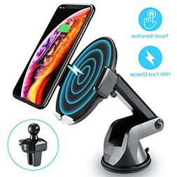 Wireless Car Charger with Touch Sensitive Clamp FLOVEME 10W
