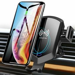 TOZO Wireless Car Charger Motor Clamping Silent Mount Holder