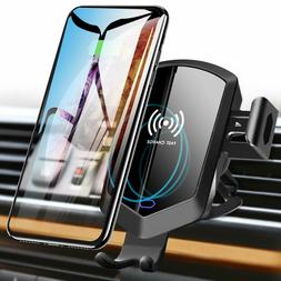 Wireless Car Charger Mount Holder Auto Sensing Silent Fast C