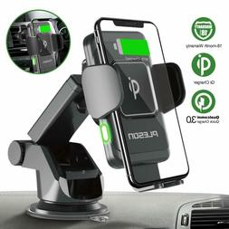 Pleson Wireless Car Charger Mount, Auto-Clamp 10W/7.5W Qi Fa