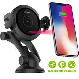 Wireless Car Charger Mount - Qi Fast Wireless Charging Car M