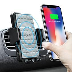 Wireless Car Charger Mount, Amoner 10W Fast Charging Wireles
