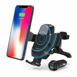 RAVPower Wireless Car Charger Qi Fast Charging Car Mount Aut