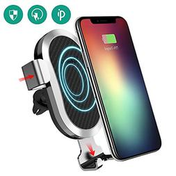 Wireless Car Charger, Esolom Fast Wireless Charging Mount Ai