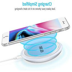 CHOETECH Wireless Cell Phone Charging Pad for Qi-Enabled Dev