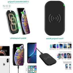 Wireless Charger 3 Coils Qi Certified Fast Charging Pad Comp