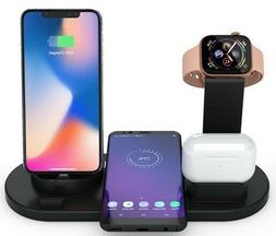 Wireless Charger 4 in 1 Charging Dock for Apple Watch & Air