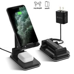 Wireless Charger Charging Pad Stand Holder Foldable Adjustab