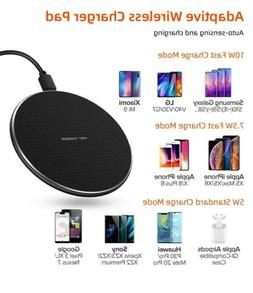 Wireless Charger Qi-Certified 10W Max for iPhone  Samsung Un