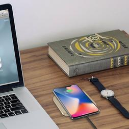 Wireless Charger Qi Certified Pad iPhone Xs/Xs/Xr/X Samsung