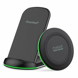 Yootech Wireless Charging Bundle, 2 Pack, Stand and Pad, 10W