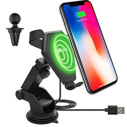 Wireless Charging Car Mount for iPhone X 8 Plus 8 Qi Fast Wi
