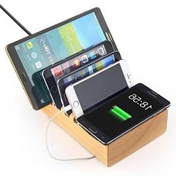 Hapurs Wireless Charging Dock, Multi-Device Quick Charger 2.