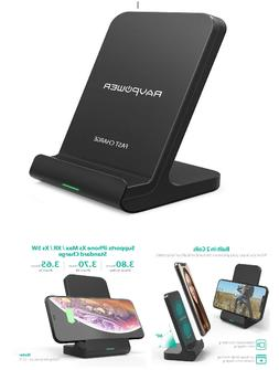 Wireless Charging Stand RAVPower 2 Coils Qi Certified Fast W