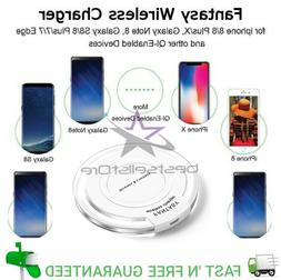 Qi Wireless Fast Charger Charging Pad for Iphone Samsung Gal