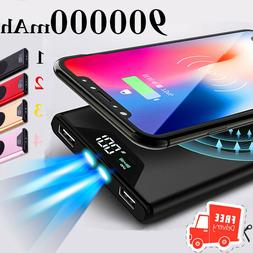 Wireless Power Bank 500000mAh External Battery Charger Dual