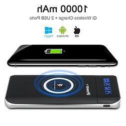 Wireless Power Bank Portable 10000mAh Qi Wireless Charger iP